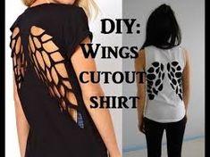 Afbeeldingsresultaat voor diy shirts cutting