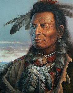 'Voices on the Wind' (Cherokee) - by western artist Charles Frizzell <> (western, wild wild west, native American, art) http://www.frizzellstudios.com/gallery/image.php?image=266&viewtype=images