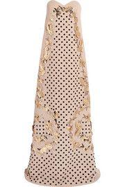 DELPOZOEmbellished silk-blend gown