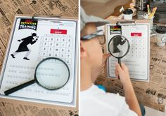 Anders Ruff Custom Designs, LLC: Jeffrey's Vintage Detective Party Printable Labels, Party Printables, Ciphers And Codes, Secret Agent Party, Detective Theme, To Go Coffee Cups, Spy Party, Activities For Boys, Party Flags