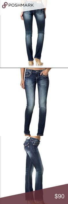 New miss me jeans New miss me jeans size 24. Length is 33.5in. Straight leg, mid rise. New with tags. Lace pockets Miss Me Pants Straight Leg