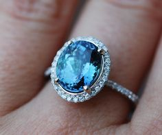 Rose Gold Engagement Ring Lavender Blue Tanzanite cushion cut engagement ring rose gold ring by Eidelprecious. Ring Ring, Oval Halo Engagement Ring, Turquoise And Purple, Right Hand Rings, Titanium Rings, White Gold Diamonds, Black Diamond, Beautiful Rings, Wedding Bands