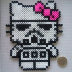 Stormtrooper Star Wars Hello Kitty hama beads by sandreta_nez