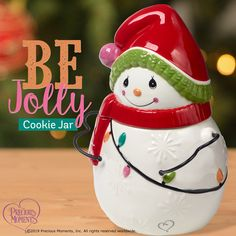 The holidays are a time for family, friends, togetherness, and COOKIES! Christmas treats taste even better when stashed in a whimsical cookie jar. Christmas Baskets, Christmas Treats, Holiday Fun, Holiday Gifts, Holiday Decor, Wooden Advent Calendar, Snowman Cookies, Whimsical Christmas, Tree Shapes