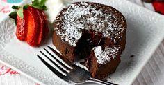 Jednoduchý lávový dortík s čokoládou