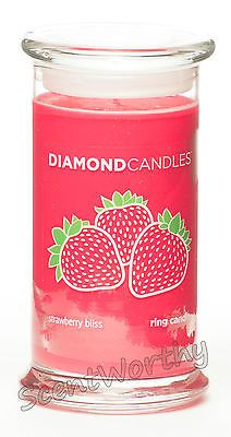 DIAMOND CANDLES Strawberry Bliss Ring Candle NIB Surprise Ring Inside