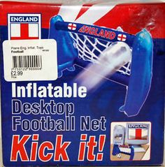 Inflatable desk football game