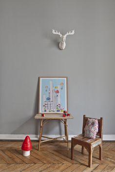 """Collection illustration - Julie Zeitline - www.juliezeitline.com - """"Un envol à NYC"""" 30x40cm ou 50x65cm / photographie Helene Giansily & Styliste photographe Alexandra Mory-Bejar / #illustration #enfant #decoration #chambre #reve #NYC #newyork"""