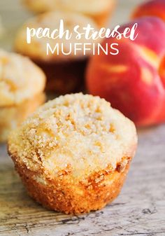 Peach Streusel Muffins Cupcakes, Cupcake Cakes, Peach Muffin Recipes, Peach Recipes Breakfast, Fresh Peach Recipes, Peach Muffins, Breakfast Muffins, Mini Muffins, Breakfast Time