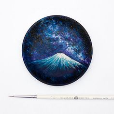 The Universe on plate - painting by Salavat Fidai