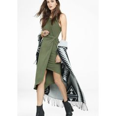 Host Pick  Sexy Unique Army Green Fall Dress
