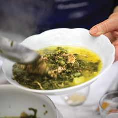 Loaded with root vegetables and sweet Savoy cabbage, this robust white bean soup from southwestern France is enriched with smoky bacon and duck confit.