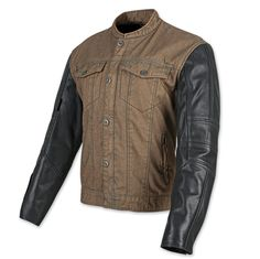 Speed and Strength Band of Brothers Brown/Black Denim/Leather Jacket