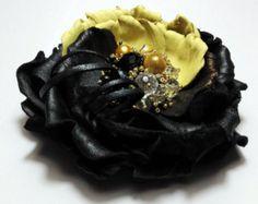leather jewelry, flower brooch, leather brooch, leather anniversary, leather corsage, leather flower brooch, handmade brooch, floral jewelry