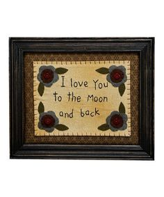 Look what I found on #zulily! 'To The Moon' Wall Art by Primitives by Kathy #zulilyfinds