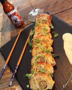 Sushis déjeuner et Mayo Firebarns au Bacon Fresh Rolls, Bacon, Ethnic Recipes, Food, Grated Cheese, Meals, Yemek, Pork Belly, Eten
