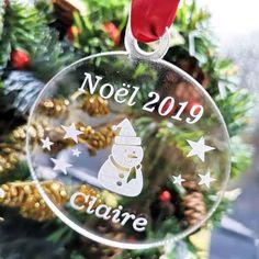 Personnalisée Photo Boule à neige babiole arbre de Noël décoration papa et maman