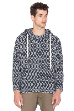 NSF Hawke Pullover in Navy & White