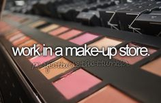 Discounts on the products. Everyone is getting makeup for Christmas. Dad, what color blush do you like?
