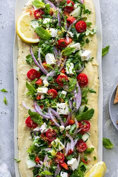Griechischer Salat Hummus Board – Appetizers that Amaze! – … Griechischer Salat Hummus Board – Appetizers that Amaze! Easy Delicious Recipes, Easy Appetizer Recipes, Healthy Appetizers, Healthy Recipes, Appetizer Dessert, Savoury Recipes, Party Appetizers, Salad Recipes, Cooking Recipes