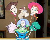 Deluxe Toy Story Birthday Centerpiece with Woody, Jessie Buzz Lightyear Toy Story Party