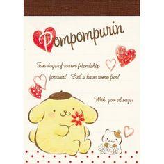 Sanrio Pompom Purin Hearts Mini Memo Pad (◕ᴥ◕) Kawaii Panda - Making Life Cuter