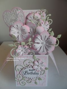 Box card for someone special Heartfelt creation flowers
