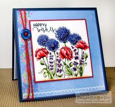 Garden Fireworks Digital Stamp Set | Power Poppy by Marcella Hawley