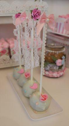 Little Birds Shabby Chic Cake Pops  Violeta Glace