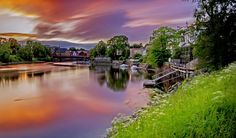 Nidelva, gamlebybro, Trondheim by Aziz Nasuti on Trondheim, Norway, Places To Visit, Boat, River, Nature, Pictures, Outdoor, Painting