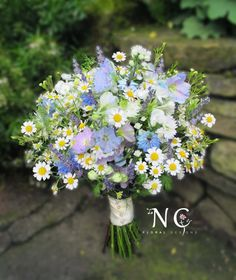 blue nigella bouquet - Google Search