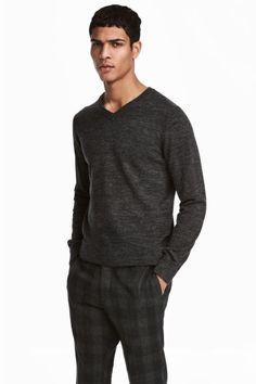 Bawełniany sweter w serek Model
