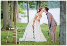 Step away fromthe formality of a wedding ceremony with a reception filled with attention-grabbingand entertaining games! You and your spouse along with your wedding guests will adore theseamusing activities from games on the lawn to good old-fashioned board games. Get ready to show those pearly whites because your photographer will have a hay-day taking cool photographs of all thefestivities!  Jenny Cox Holman (writer)