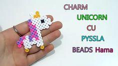 ♥ Charm Unicorn cu Margelute Pyssla Hama Beads Tutorial ♥