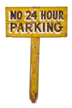 Urban Remains Chicago :: vintage city of chicago hand painted removable wood street parking stake sign