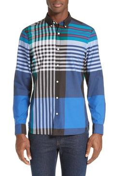Burberry Brookhouse Trim Fit Sport Shirt available at #Nordstrom