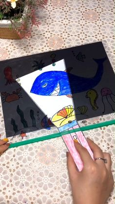 Science Projects For Kids, Fun Crafts For Kids, Diy For Kids, Toddler Learning Activities, Preschool Activities, Diy Crafts Videos, Paper Crafts, Fish, Ideas