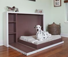 Murphy Bed Design Ideas: Smart Solutions For Small Spaces Cama Chanel, Cama Murphy Ikea, Dog Stairs For Bed, Murphy-bett Ikea, Ikea Hack, Beds For Small Spaces, Small Bedrooms, Pallet Dog Beds, Designer Dog Beds