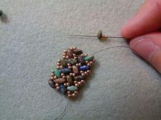 Tweaked Version of SuperDuo Knit Herringbone Bracelet #Seed #Bead #Tutorials