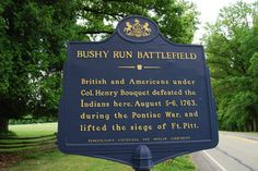 Bushy Run Battlefield 's premiere event pits the forces of his Royal Highness King George IIII against a confederation of Native Americans .   Don't miss the reenactment this weekend! Cost is $5.00, free for children 3 years old and under.  https://www.facebook.com/PATrailsofHistory/posts/10152381380427669