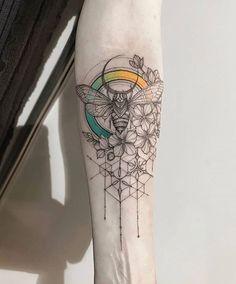geometric tattoo pattern Geometrictattoos is part of Tattoos - Tattoos Motive, Muster Tattoos, Body Art Tattoos, New Tattoos, Tribal Tattoos, Sleeve Tattoos, Geometric Tattoos, Geometric Sleeve, Forearm Tattoos
