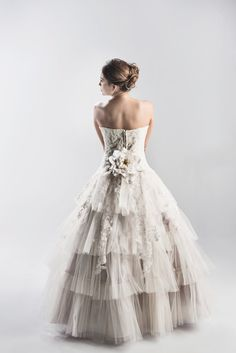 Lace and Tulle Strapless Wedding Dress in by StaysiLeeCouture