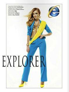 Browser-Inspired Editorials - Viktorija Pashuta Translates Internet Browser Icons into Fashion (GALLERY)
