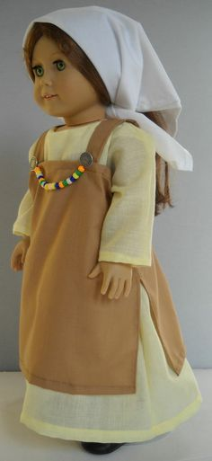 """Fits 18"""" American Girl doll Viking folk dress clothes C (COSTUME ONLY)"""