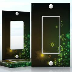 DIY Do It Yourself Home Decor - Easy to apply wall plate wraps | Neon Dream  Rainbow colored Christmas tree  wallplate skin sticker for 1 Gang Decora LightSwitch | On SALE now only $3.95