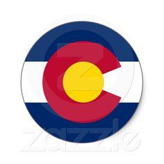 Colorado State Flag Round Sticker from Zazzle.com