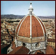 Dome of the Santa Maria del Fiore cathedral (Florence), 1420 - 1436 - Filippo Brunelleschi Renaissance Architecture, Art And Architecture, Santa Maria, Madonna, Filippo Brunelleschi, Florence Cathedral, Web Gallery Of Art, Hans Peter, Florence Tuscany