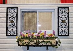 Wrought Iron shutters
