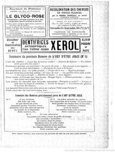Publicités, L'Art d'être jolie : publication hebdomadaire illustrée / sous la direction de Mme Liane de Pougy, 13/08/1904