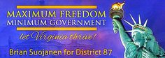 Brian for District 87-- Libertarian for Virginia House of Delegates District 87